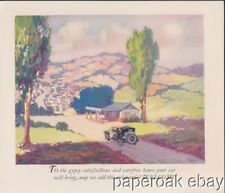1925 Standard Oil Service Stations Advertising Folder Zerolene & Red Crown Gas