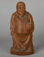 """5.6 """"vieille Chine propriétaire de sculpture sur bois de buis"""