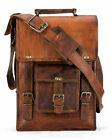 New-Mens-18-Large-Satchel-Genuine-Leather-Messenger-Briefcase-Laptop-Sling-Bag