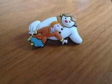 The Snowman & Boy Flying Pin Badge
