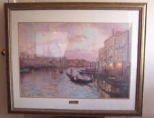 Thomas Kinkade Venice Framed Lithograph Signed Print