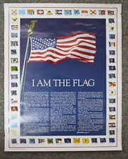I Am The Flag Vintage Patriotic Poster Tribute to National Flag Foundation USA