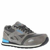 Reebok RB977 Women's Retro Jogger Safety Shoes - Grey/Blue - 12.0 - M