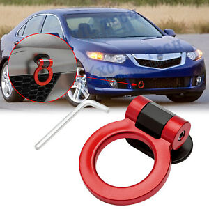 For Acura TSX Red Track Racing Sporty Style Dummy Tow Hook Ring Look Decoration