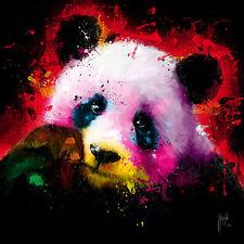 PATRICE murciano: Panda POP Imagen TERMINADA 50x50 Mural de colores moderno Oso