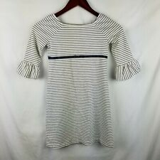 Gymboree Girls Striped Shirt Dress Size 7 Puffy Sleeves Vtg