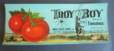 Wholesale Lot of 100 Old Vintage - TROY BOY - TOMATO LABELS - Calipatria CA.