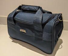 Delsey Axiome Blue Small Shoulder Flight Bag Luggage Vanity Camera Travel NEW