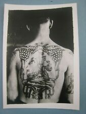 Vintage KOBEL Tattoo Photo...7'' x 5'' in. ..Bert Grimm Tattooed Sailor