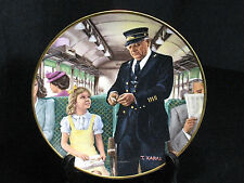 Train Collector Plate Ted Xaras Men of the Rails The Conductor Vintage