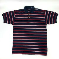 Gant Polo Shirt Men's Size L Rugged Pique Short Sleeve Collared Striped Golf New