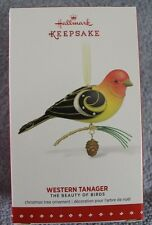 "2015 THE BEAUTY OF BIRDS  ""WESTERN TANAGER""  HALLMARK KEEPSAKE ORNAMENT NIB"