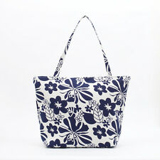 NEW Cotton Tote bag - Knitting craft bag - Zip Beach bag - Island  Aloha flower