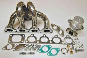 for Honda D16 D-Series T3 Stainless Manifold Wastegate for Turbo Kit Power JDM