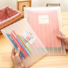 A4 File Storage Document Folder Protective Transparent Bag School Office Supplie