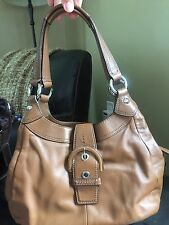 COACH Soho 'LYNN' Brown Leather Smaller Slouch Tote Shoulder Purse Bag F17219
