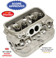 "EMPI 98-1356-B STOCK DUAL PORT CYLINDER HEAD COMPLETE 14MM 1/2"" VW AIR COOL BUG"