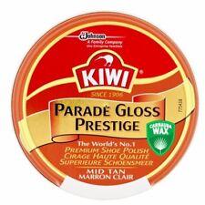 KIWI PARADE GLOSS MID TAN SHOE POLISH Carnauba Wax 50ml