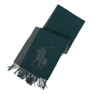 Polo Ralph Lauren Big Pony Wool Scarf - Regent Green -