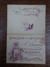 1 carte MENU RESTAURANT Daté 20/10/1901 Bapteme  LIGNARRE 99 Rue d'Alesia Paris