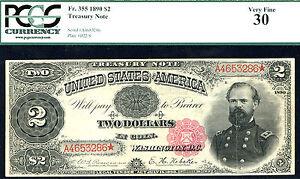 1890, $2 FR-355 Large Size Treasury PCGS 30