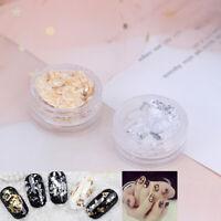 Irregular Aluminum Foil Paper Nail Art Sticker Glitter Manicure Decoration-To SP