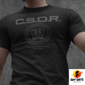 RARE Canadian Special Operations Regiment CSOR Elite Special Forces SWAT T-Shirt