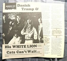 White Lion / Mike Tramp / 1980'S 2 Page Magazine Interview / Article Complete