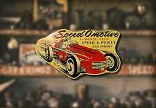 Vintage Speed-O-Motive Decal Hot Rod Rat Flathead Ford Sticker Drag Race Intake