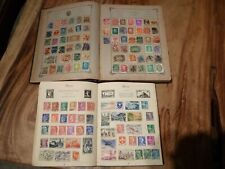 3 X ALBUMS VINTAGE,ANTIQUE INTERNATIONAL STAMPS,COLLECTABLE ROYAL MAIL,PART FULL