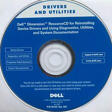 ★ Dell DRIVERS AND UTILITIES Resource CD ★ Reinstalling P/N 9G705 Rev A01 A8