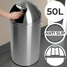 Push Mülleimer Abfalleimer Druckdeckel Müllbehälter Treteimer Edelstahl 50L