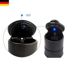 LED Ascher Aschenbecher mit Deckel Getränkehalter für Universal Fahrzeuge