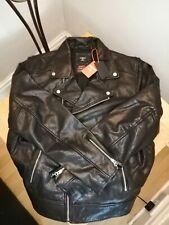 Superdry Leather Moto biker Vintage Jacket, New Size Xl