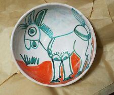 "Estate Desimone #65 DONKEY Mid Century Modern Italian Pottery Bowl * 7.25"" Wide"