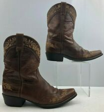 Ladies Ariat Brown Leather Cowgirl Boots Size : 6