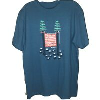 Patagonia Mens Responsibliti Tee Regular Fit Blue Short Sleeve Shirt Size Medium