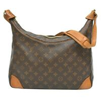 Authentic Louis Vuitton Boulogne GM Monogram One Shoulder Hand Bag Purse Brown