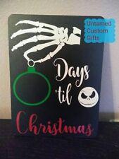 Countdown for Christmas Chalkboard Jack skellington Nightmare before christmas