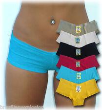 6 Sexy Cotton Low Rise Boyshorts Panties Underwear SMALL - FREE SHIPPING TO U.S.