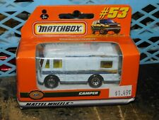 1998 Matchbox Car Mercedes Camper #53 Sealed In Box Mattel Wheels