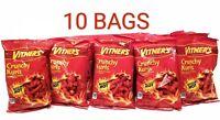 VITNER'S 10 Pack CRUNCHY KURLS SIZZLIN HOT CHEESE  A Chicago Original 1oz bags