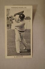 1953 - Vintage - Morning Foods Ltd. - Cricket Card - A. Davidson - N.S.W.