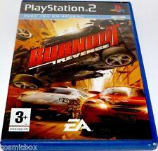 PlayStation 2 jeu video BURNOUT REVENGE course console sony ps2 bon état complet