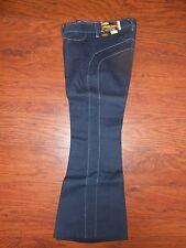 70's Vintage MANN Pants Boy/Girl 11 Reg Navy Blue Jeans Unisex Flare Hippie!