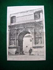 A Benevento nel 1885 - Arco di Traiano, disegno di A. Cairoli