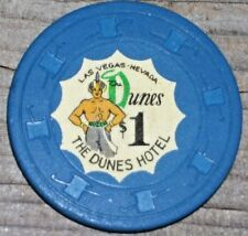 $1 3RD EDT GAMING CHIP FROM THE DUNES CASINO LAS VEGAS