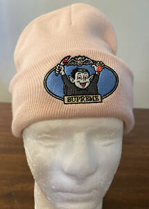 SUPREME VAMPIRE BOY BEANIE- PINK OS SS21 WEEK 12 (IN HAND) AUTHENTIC/ BRAND NEW
