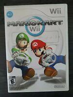 Mario Kart Wii NINTENDO Mariokart COMPLETE FREE SHIPPING & RETURNS TESTED
