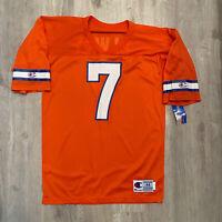VTG Champion John Elway Jersey NEW Denver Broncos NFL #7 Orange 90s Size 44